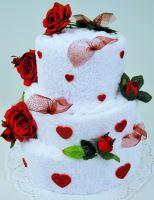 Textilní dort - třípatrový vhodný dárek