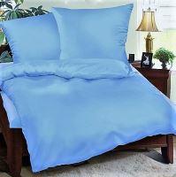 Bavlněné povlečení sv.modré 70x90 140x200cm