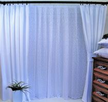 Závěs Orlando bílý - výška 290/ šířka 150cm