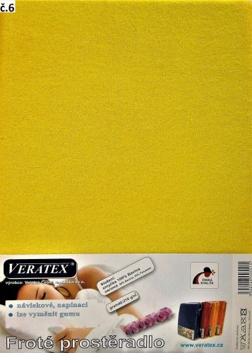 Froté prostěradlo 200x220 cm (č. 6-stř.žlutá)