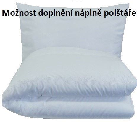 Set polštáře a přikrývky - Bavlna (1200g/ 950g 140x200+70x90cm) bílá