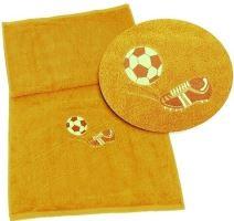 Ručník fotbal 50x100 sytě žlutá