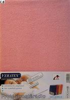 Froté prostěradlo dvoulůžko 180x200/16cm (č. 8-růžová)