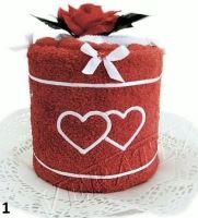Textilní dort Srdíčka jednopatrový