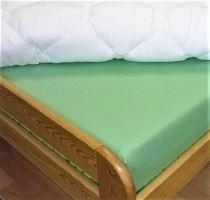 Plátěné prostěradlo s gumou 110x200 cm (zelená)