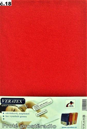 Froté prostěradlo 200x220 cm (č.18-červená)