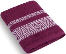 Froté ručník 50x100 cm Řecká kolekce - vínová